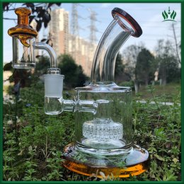 Wholesale glass bongs free shipping - toro glass bong oil rig 5MM thickness banger nail coloured Glass Carb Cap thick glass bongs male joint 14.4MM bubbler dab rig free shipping