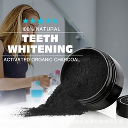 Wholesale Oral Care Kits - Organic Activated Charcoal Toothpaste Coconut Charcoal Teeth WhiteningPowder Remove Smoke Tea Coffee Yellow Stains Bad Breath Oral Care 30g
