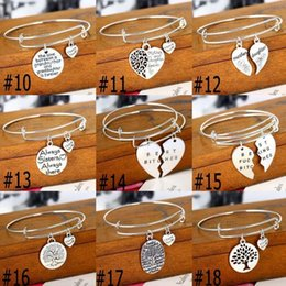 """Wholesale Pet Love - Fashion Love Jewelry """"No longer by my side but forever in my heart thank you""""Adjustable Wire Expandable Bangle Pet Memorial Jewelry"""