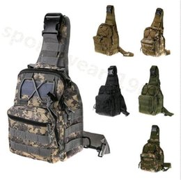 Wholesale Shoulder Pack Tactical - 800D nylon Tactical Fly Fishing Camping Equipment Bag Nylon Wading Chest Pack Crossbody Sling Shoulder Bag