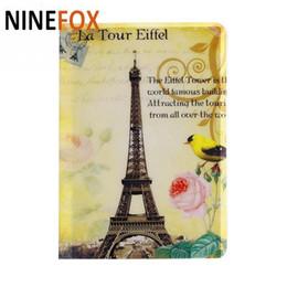 Wholesale Eiffel Holder - 10 Styles Fashion Passport Cover Card ID Holders 14x9.6cm PVC Document Folder Travel Passport Package Eiffel Tower