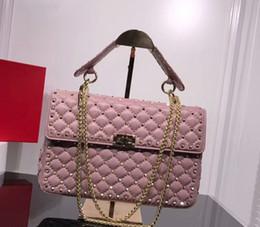 Bandolera de color nude online-bolso de cuero clásico 30 cm cuero de piel de vaca cinco colores que combinan con un hombro, bolso de hombro inclinado paquete de cubo negro rojo rosado desnudo