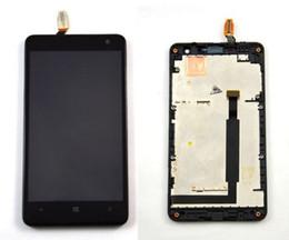 Schermo di tocco lumia 625 online-100% Test Digitizer Vetro Sensore Touch Screen RM-943 + Schermo LCD Display Panel + Black Frame Per Nokia lumia 625