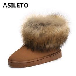 ASILETO scarponi da neve da donna scarpe spesse scamosciate calde stivali  invernali in pelle moda vera pelliccia bambino scarpe da ginnastica  femminile ... 5f47594a8ba