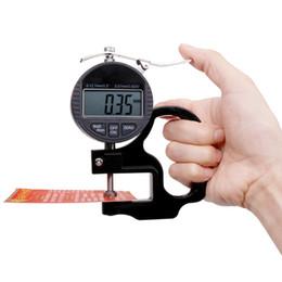 измерительный прибор Скидка 2018 новый цифровой 0,01-12,7 мм Диапазон толщиномер с ЖК-дисплеем электронный измерительный прибор для бумажной пленки ткань ленты
