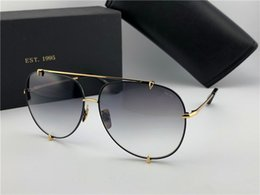 Wholesale Talons Fashion - New luxury brand sunglasses D T talon men sunglasses pilots metal crystal cutting frame 18K gold-plated UV400 lens oversizes big frame