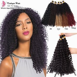Wholesale Synthetic Water Wave - Synthetic Hair Crochet Braids Bohemian Braids 14inch 100g pack kinky curly water wave synthetic braiding hair free shipping high quality