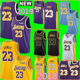 Wholesale embroidery jerseys - 2019 New LeBron James Lakers Jersey Los Angeles Lakers 2018 Mens Jersey Top 23 LeBron James Embroidery Basketball Jerseys