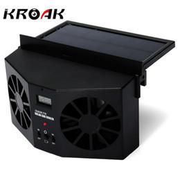 Wholesale auto power windows - Solar Powered Car Window Fan Auto Ventilator Air Vent Vehicle Radiator vent With Ventilation