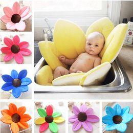 Wholesale Baby Girl Stockings Pink - Baby Boy Girl Non-Slip Bath Mats NewBorn Soft Bathtub Blooming Flower Shape Mat Cute Foldable Infant Shower Play Bath Cushion