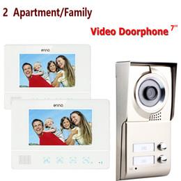 Лучший монитор камеры онлайн-Best 7'' wired color video door phone Intercom System 1 Doorbell Camera+2 Waterproof Monitors For 2 Apartments/Family 811WMC12
