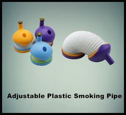 Shisha di cristallo online-Shisha di plastica Stretch shisha Tubo da fumo stretch Narghilè da viaggio Pipa da tabacco portatile VS Tubo di cristallo all'ingrosso