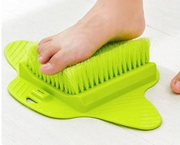 Wholesale Spa Bath Cleaning - Feet Foot Bath Shower Brush Spa Washer Cleaner Scrubber Massager Foot wear With Sucker Can hang
