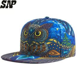 179d729ffbe owl baseball caps 2019 - Women Baseball Cap Couple Snapback Hats Men 3D  Printed Owl Personality