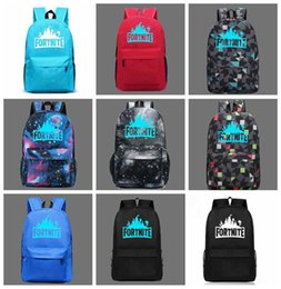 2018 Fortnite Battle Royale Galaxy Schoolbag Student Cool Night Luminous  Backpack Youth Camps For Unisex DDA761 Outdoor Bags 896b1cd716c4b