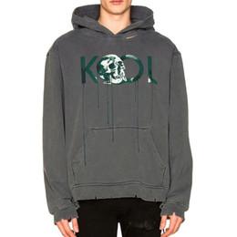 baa3af5f3 hooded sweatshirts skulls Coupons - 18FW ALCHEMIST KOOL Skull Hoodie GD  Luxury Fashion Hole Long Sleeve