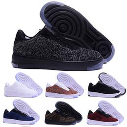 Wholesale types flat shoes - Fashion Men Shoes Low One 1 Men Women China Casual Shoe Fly Designer Royaums Type Breathe Skate knit Femme Homme 36-45