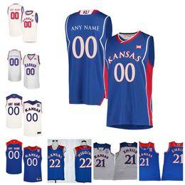 44ab497d37a NCAA Kansas Jayhawks #4 Devonte' Graham 10 Sviatoslav Mykhailiuk 14 Malik  Newman Any Name NO. College Basketball Jersey