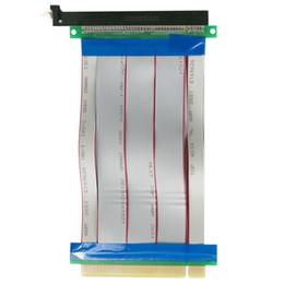 PCI-E 16X a 16X Adaptador de tarjeta vertical Cable extensor PCI E 16X PCI Express Flexible vertical 1X 4X 8X 16X desde fabricantes