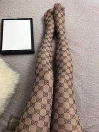 2019 chaussettes chaudes Chaud G Bas Femmes Marque Sexy Restez Cuisses Haut Bas Tricoté Long Genou Haut Chaussettes Maille Collants Haute Élastique P Complet G chaussettes chaudes pas cher