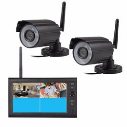 """Wholesale Wireless Dvr Security Camera Systems - 7"""" LCD 4CH Wireless CCTV Camera DVR Digital Video Shop Home Security System Outdoor Surveillance System 2.4G Wireless"""