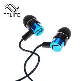 Original TTLIFE Marke Hot Wired Hörer Super Bass Kopfhörer Klare Stimme Kopfhörer Metall In-ear-ohrhörer Für Smartphones MP3 von Fabrikanten
