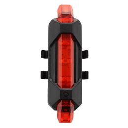 5LED bicicleta trasera luces traseras Flash USB recargable bicicleta lámpara de seguridad a prueba de agua, negro + rojo desde fabricantes