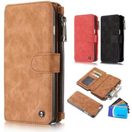 Wholesale X Men Wallet - Flip Leather Case Luxury Men Zipper Wallet Purse Card Slot Stand Holder Pouch Cover Bag For iPhone 5 5s SE 5C 6 6s 7 Plus