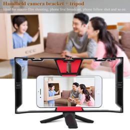 Tragbare Dual-Handheld-Videokäfig-Stabilisator-Kit Film Stetige Griffhalterung Grip Rig Für Smart Phone Video Maker von Fabrikanten
