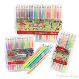 Wholesale Fine Toys - neon water chalk gel pens diamond gel pens for coloring book flash Fluorescent gel pen fine drawing pens 36 color set