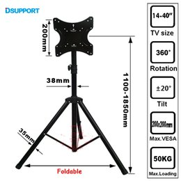"""Wholesale Tv Mount Wholesale - One pair TRKX22 14-40"""" Movable Folding LCD TV Floor Stand TV Mount Cart Display Rack Full Motion Tripod Loading 50kgs"""