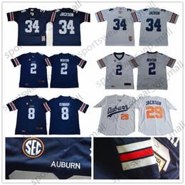 cb4516f33 NCAA Auburn Tigers Jersey men kids youth  34 Bo Jackson Cameron Newtone  white blue University Retro College Football Jerseys