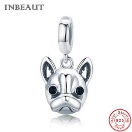 25260039c76 Pandora Style Trendy 925 Sterling Silver Cute Loyal Dog Beads fit Trendy Bracelet  Bulldog Head Charm Lovely Animal Jewelry Making