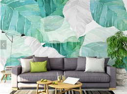 Wholesale Custom Wallpaper Designs - North Europe Design Tropical Wallpaper Photo Wall Mural for Living Room Bedroom Leaf Luxury Wall Paper Custom Any Size