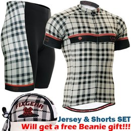 Wholesale Army Cycling Jersey Xl - 2017 short sleeve cycling jersey sets cool custom cycling clothing classic checked printed bike wear sports wear