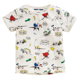 Wholesale Universe Shorts - childrens t shirts for baby boys new arrival 2018 pure cotton high quality dinosaur universe dog car printed America style