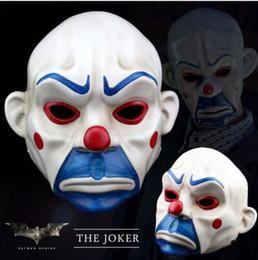 Wholesale dark knight batman costume - Movie Figures Games Figures Comics Heroes  Batman Joker Clown Bank Robber Masks The Dark Knight Scale Mask Costumes Resin