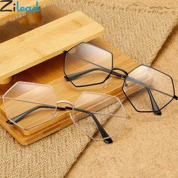 904b2a68fa3 Zilead Retro Polygon Metal Plain Glasses Women Men Clear Lens Optical Spectacle  Frame Myopia Glasses Frame For Female Male