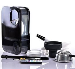 Wholesale Hose Box - 1X Newest Acrylic Hookah Box Narghile Shisha with Bowl Hose Charcoal Holder -With LED light
