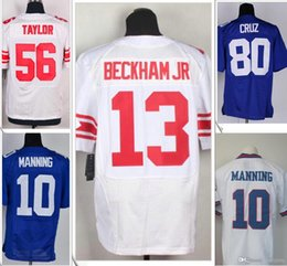 Wholesale Eli Manning Jersey Xl - 10 Eli Manning Jersey 13 Odell Beckham Jr. 56 Lawrence Taylor American College Football Stitched Shirts Embroidery Elite Mens Team Jerseys
