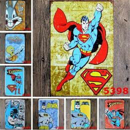 Wholesale Batman Decor - New SuperHero Batman Chic Home Bar Vintage Metal Signs Home Decor Vintage Tin Signs Pub Vintage Decorative Plates Metal Wall