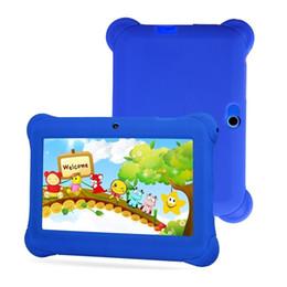 Планшеты 8gb онлайн-Cute 7 inch Colorful Case Kids Tablet 512MB + 8GB 1024 * 600 Quad-Core Android 4.4 Smart Tablets PC Learning Tablet Лучший подарок для детей