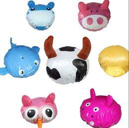 Wholesale protect animals - Funny Cartoon Animal Shower Cap Hat Bath Waterproof Kids Travel Hair Protect PVC Spa Shower Cap KKA5133