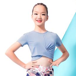 371d1ed4e57 Modal Short Sleeve Latin Dance clothes Top for little girl children kid,Ballroom  tango Cha Cha Costume Performance Wears G1057