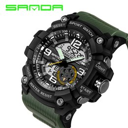 2018 Sanda Design Digital Watch Water Resistant Date Calendar Led Electronics Watches Men Military Army Sport Relogio Masculino Coupons