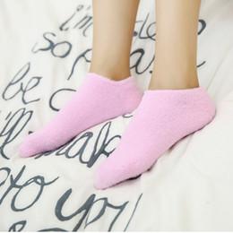 Gelhersteller online-Tiefrosa Feder-Garn-Fuß-Abdeckungs-wesentliches Öl-Gel-Socken-Fuß-Abdeckungs-Schönheits-Fuß-Abdeckungs-Hersteller-Großverkauf-Socken