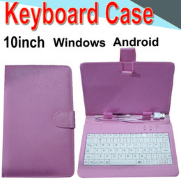 android phone covers Coupons - Wire Keyboard Case 10inch Cover for Android Windows Ultra Thin Wireless Color ABS Keyboard PU Case Universal Mobile Phone EXPT-2345