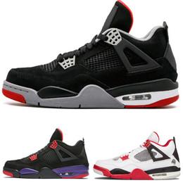Canada 4 4s Chaussures de basket en ligne Hommes Pure Money Royalty Ciment Raptors Chat noir Bred Fire Rouge Baskets Sport Baskets soldes soldes cheap online shoes discount sale Offre