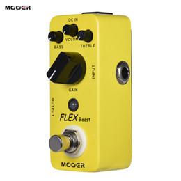 Wholesale Mooer Guitar - MOOER FLEX Boost Mini Boost Guitar Effect Pedal Wide Gain Range True Bypass Full Metal Shell