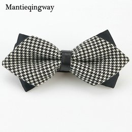 Wholesale Tuxedo Plaid Bow Tie - Mantieqingway Polyester Plaid Adult Bowtie For Men Women Tuxedo Cravat Collar Knot Wedding Party Banquet Bow Ties for Men Gift
